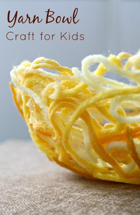 Yarn Bowl Craft Made by Kids