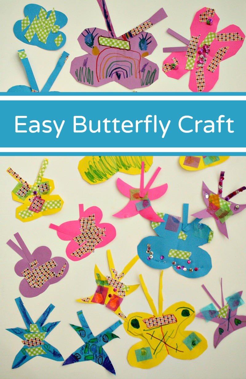 Easy Paper Butterfly Craft Fantastic Fun Learning
