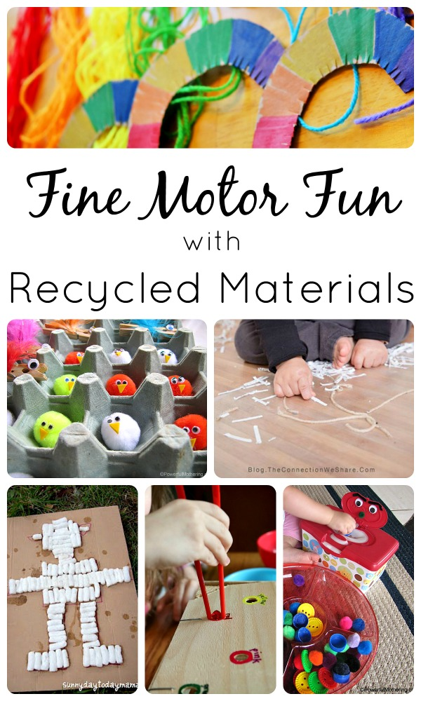 Fine Motor Activities with Recycled Materials