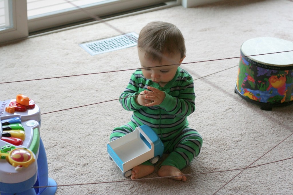 Yarn Maze from Fun at Home with Kids