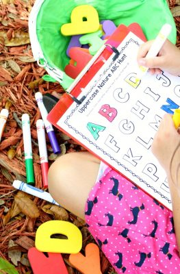 Nature ABC Hunt Free Printable