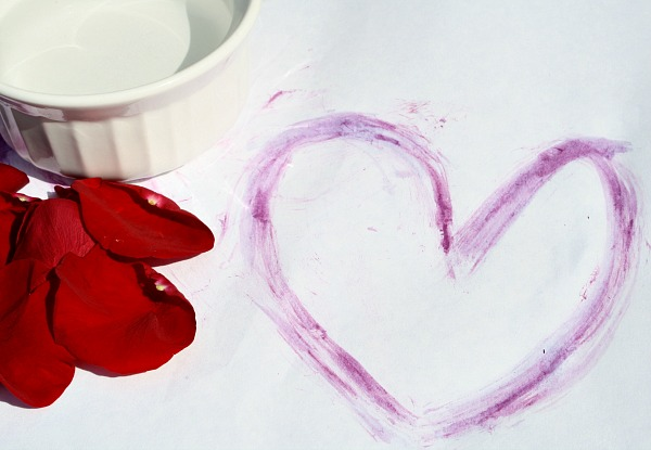 Paint with Flower Petals Activity for Kids