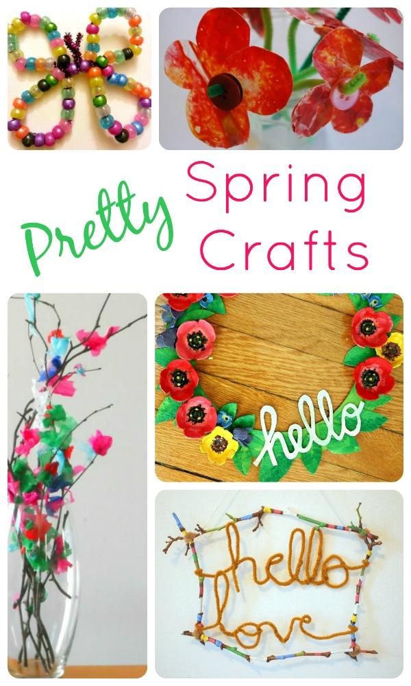 Pretty Spring Crafts...fun spring crafts that kids can make!