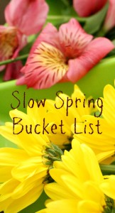Slow Spring Bucket List...simple ideas for enjoying spring together with kids