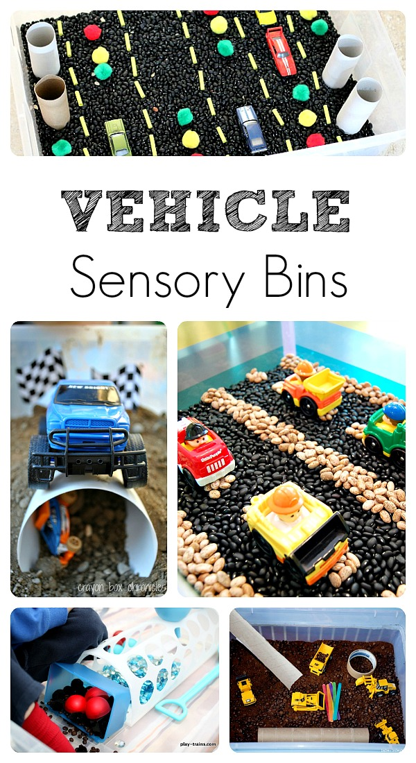 5 Fun Vehicle Sensory Bins