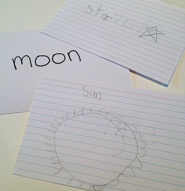 Vocabulary cards to help kids study