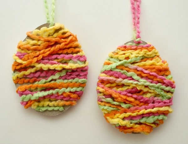 Yarn Easter Egg Craft for Kids--Easy to make!