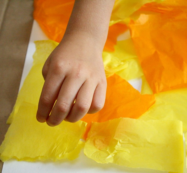 how to make crafts with bleeding tissue paper