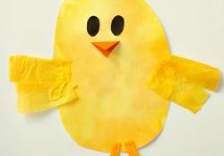 Bleeding Tissue Paper Art Chick Easter Craft
