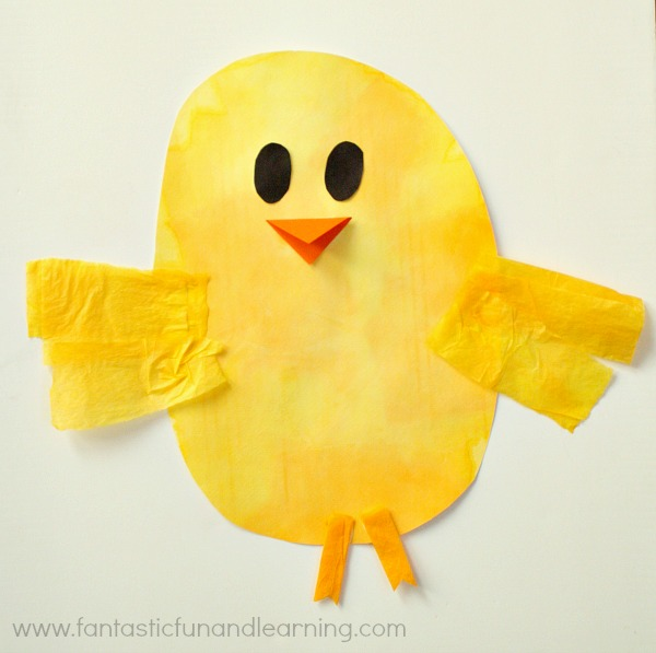 Chick Bleeding Tissue Paper Easter Craft
