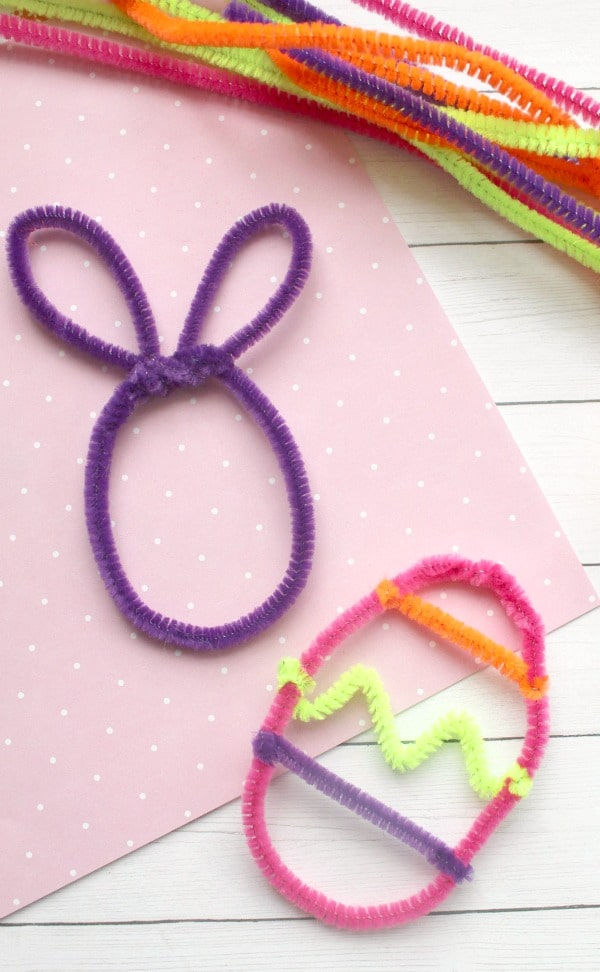 Crystal Egg Process 2-Make pipe cleaner shapes