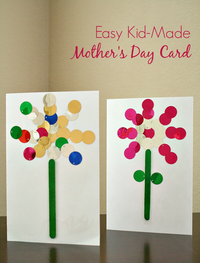Easy Kid Made Mother S Day Card