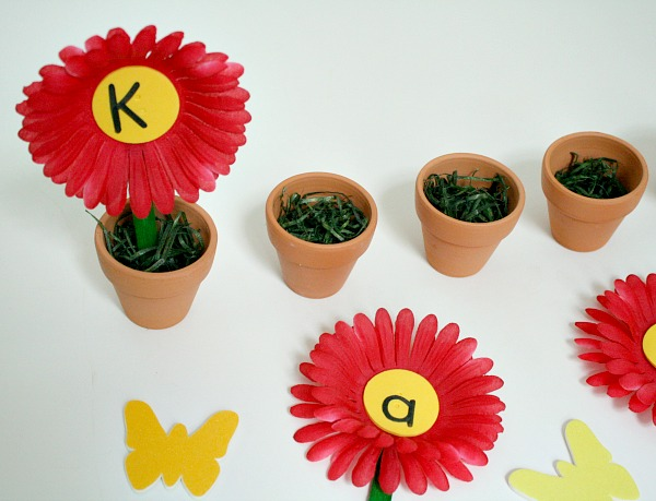 Flower Name Activity for Preschoolers
