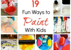 Art for Kids~Creative Ways to Paint