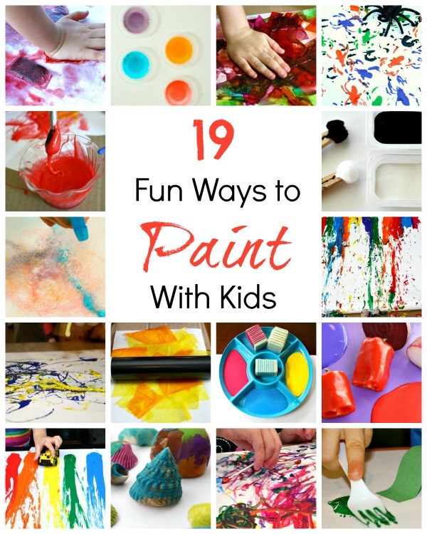 Art for kids creative ways to paint fantastic fun learning Fun painting ideas for toddlers
