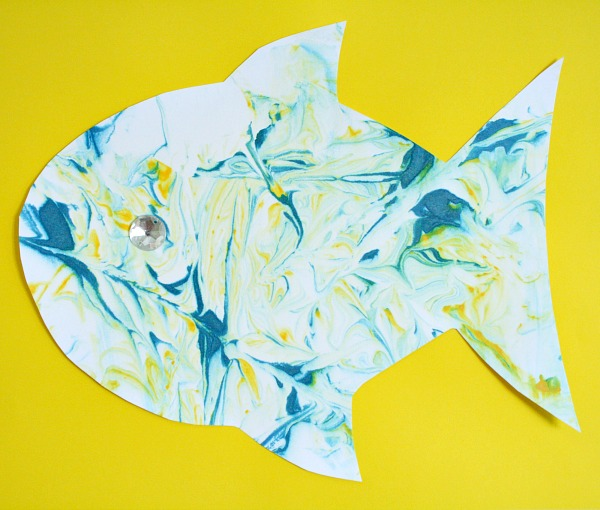 Marbled Fish Art for Kids