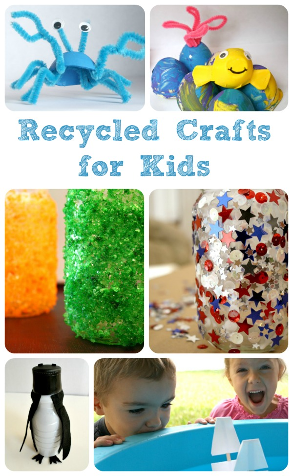 Fun recycled crafts for kids for Recycling ideas for kids