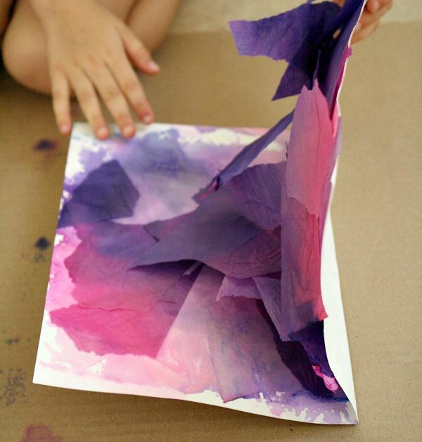 Revealing art work---butterfly craft