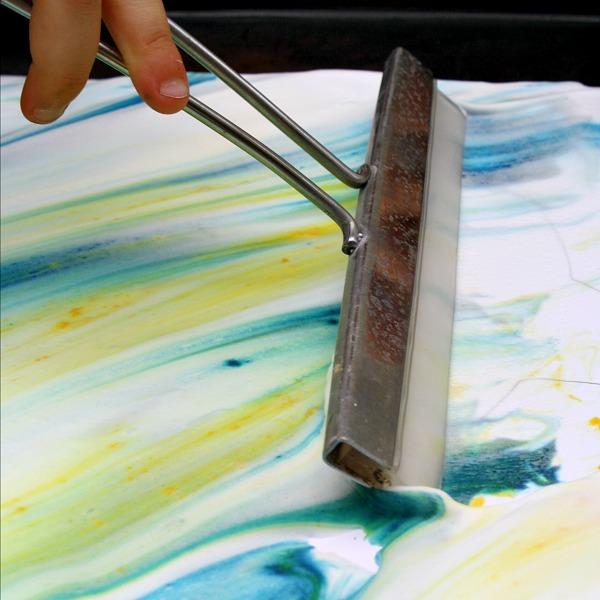 Shaving Cream Art Reveal