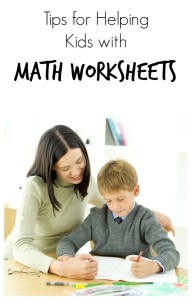 Tips for Helping Kids with Math Worksheets~Homework Help Series from Fantastic Fun and Learning