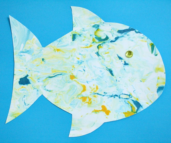 Toddler Art-Fish Craft