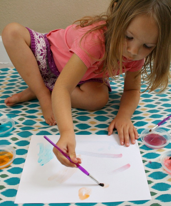 Toddler Painting Activity-scented paint