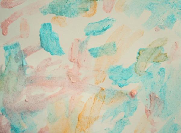 Toddler Process Art-Pixy Paint