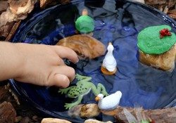 Simple Pond Small World Sensory Play