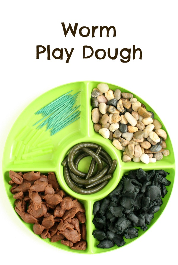 Worm Play Dough Invitation for Kids
