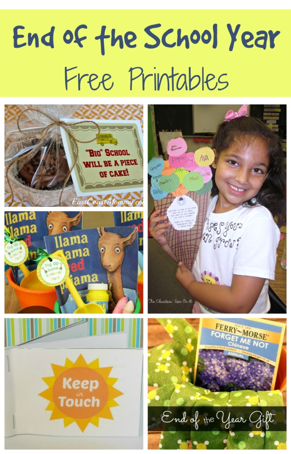 Free Printables to Celebrate the End of the School Year