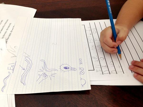 Kindergarten Writing Help