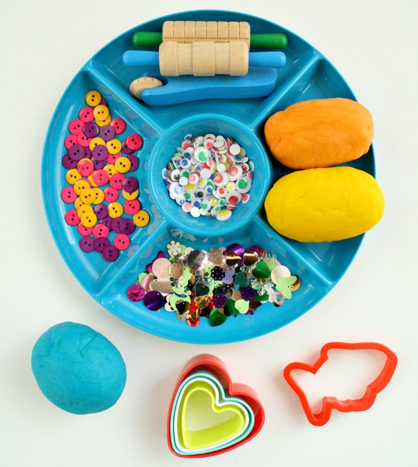 Materials for Fish Playdough