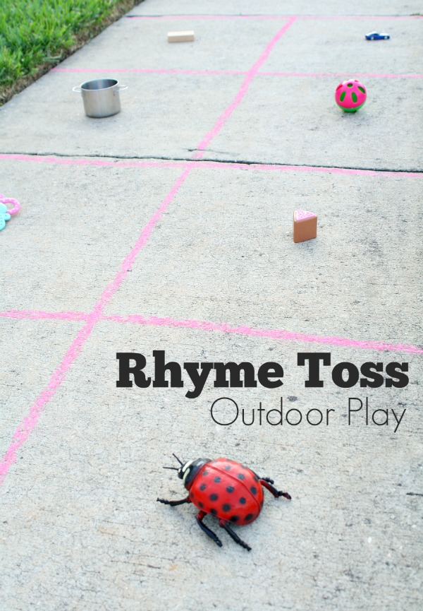 Rhyme Toss Outdoor Play for Kids