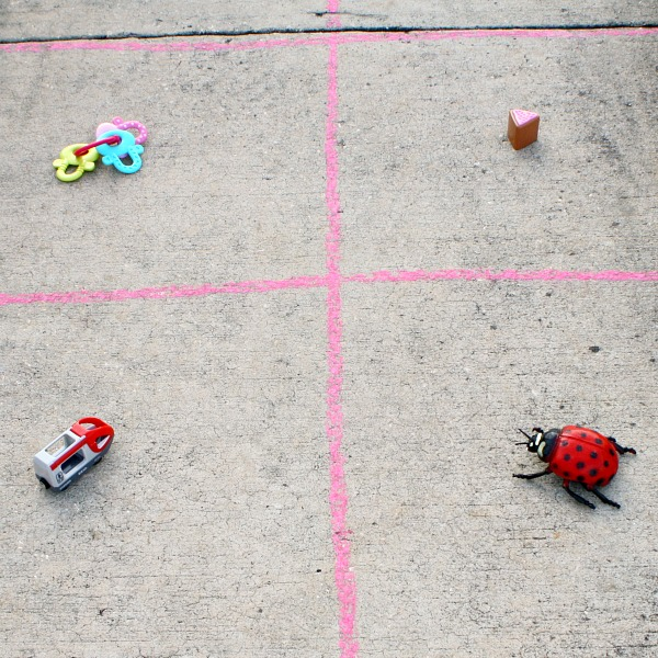 Set up for rhyme toss