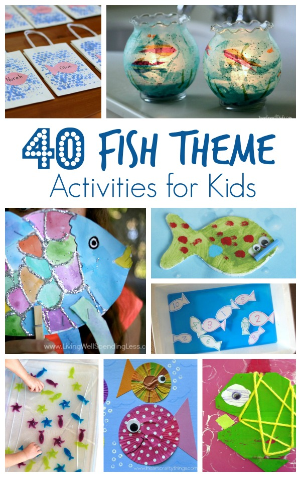40 Fish Theme Activities For Kids Fantastic Fun Learning