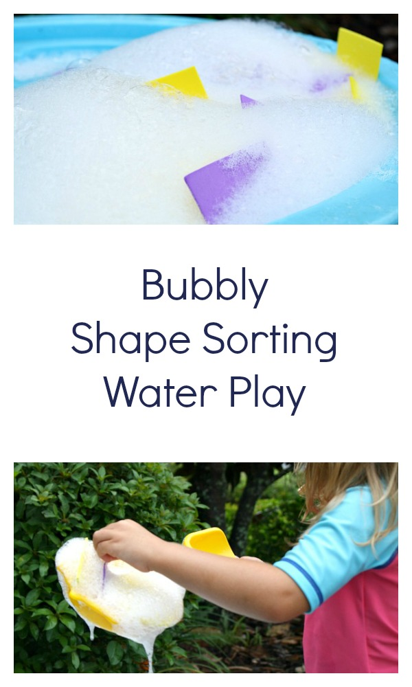 Bubbly Shape Sorting Water Play Activity