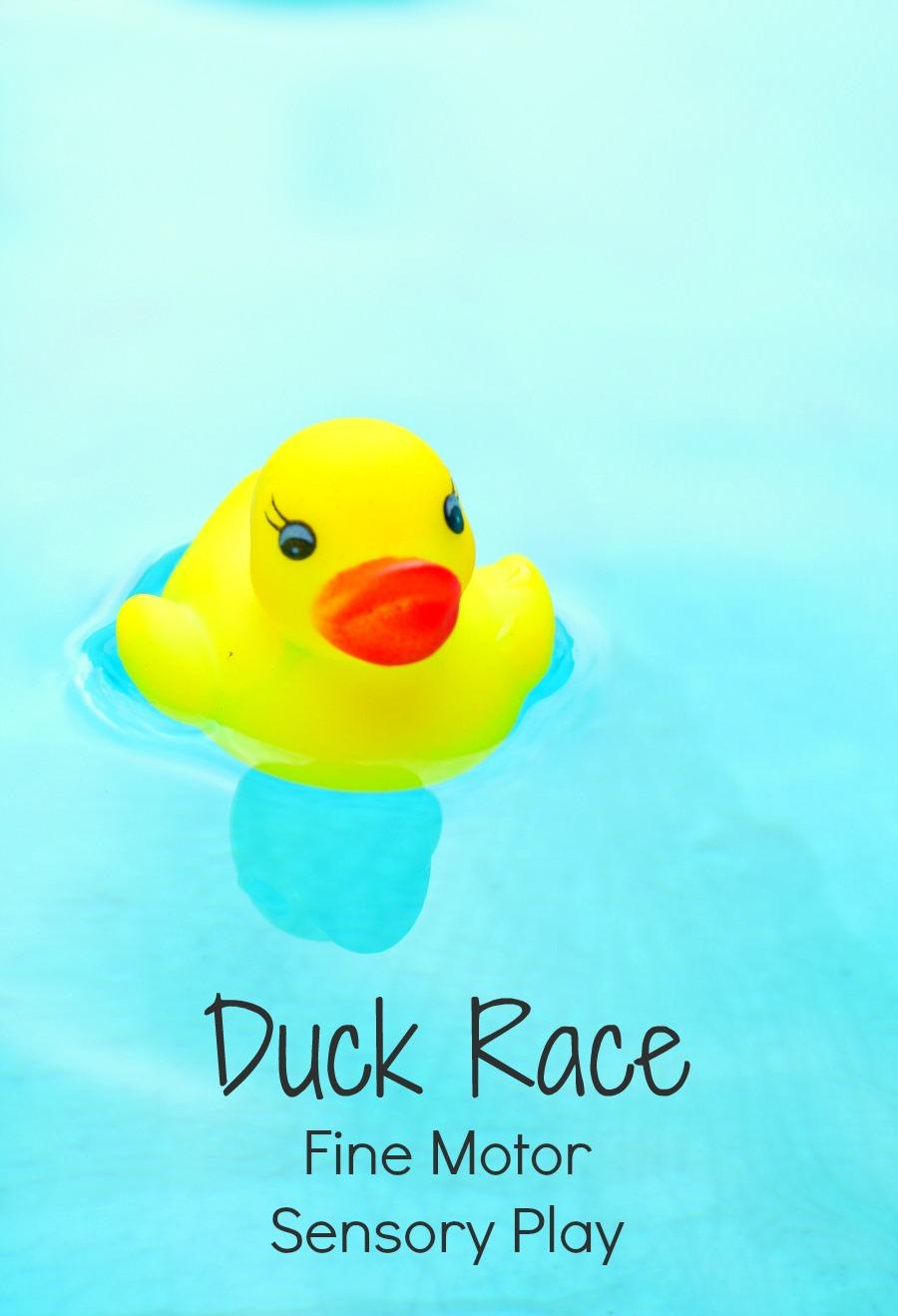 Duck Race Fine Motor Sensory Play Fantastic Fun Amp Learning