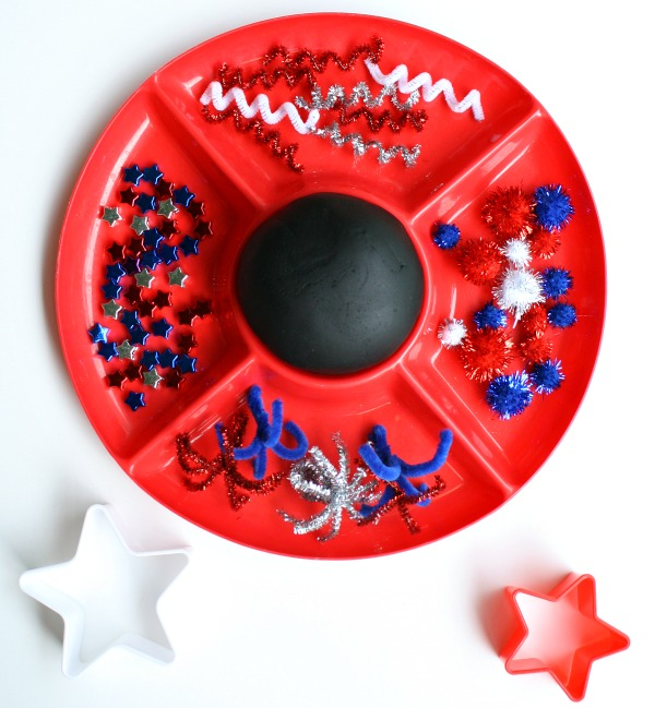 Materials for Fireworks Play Dough