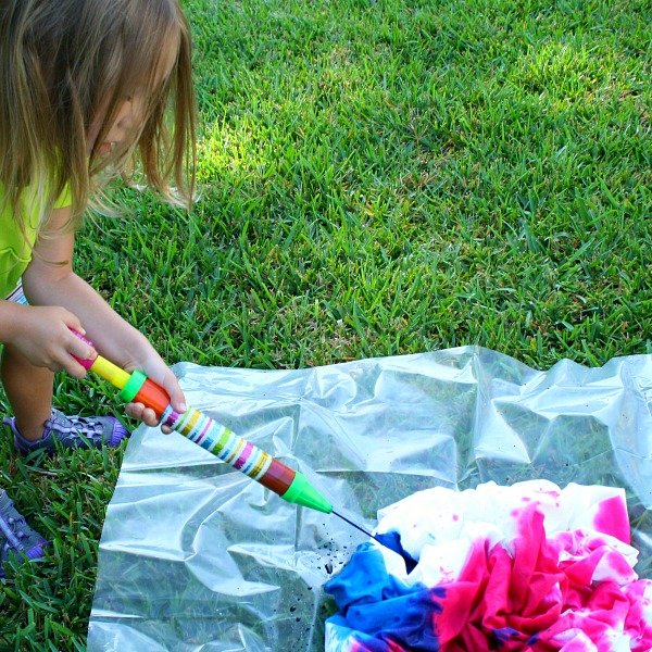 Preschool Tie-Dye Project