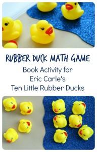 Ten Little Rubber Ducks Book Activity~Rubber Duck Math