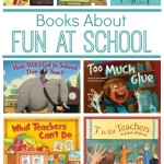 Books About Fun at School~14 great books about riding the bus, picture day, teachers, art class, and so much more