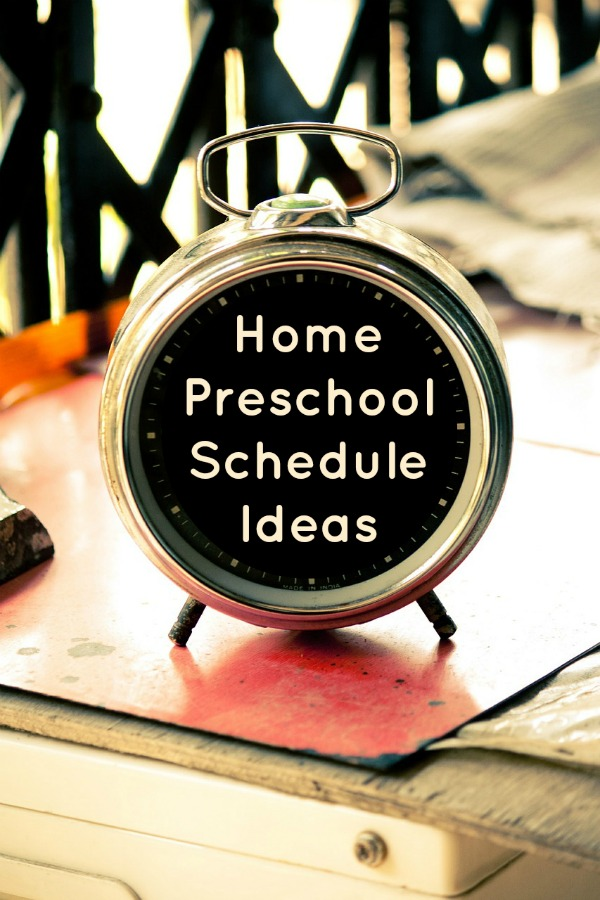 Home Preschool Schedule Ideas~See how 10 different families structure their daily home preschool routine.