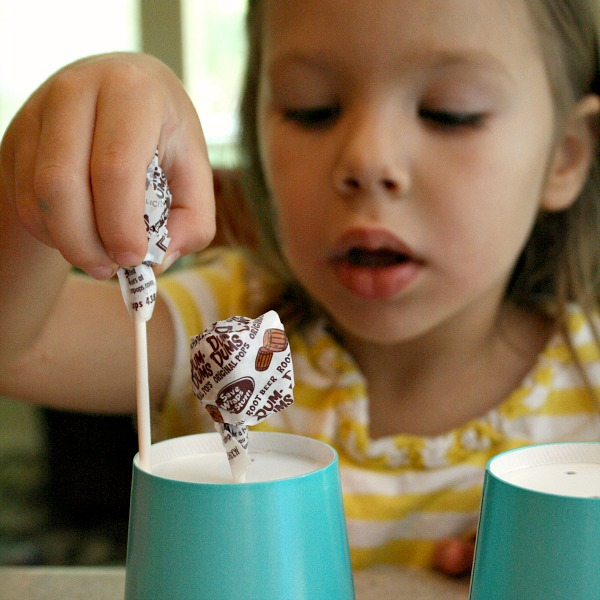 Preschool Fine Motor Activity with Lollipops