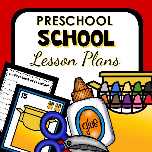 School Theme Lesson Plans for Preschool