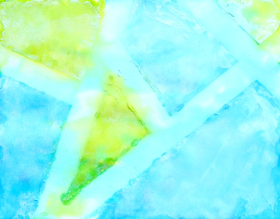 Fizzing Watercolor Tape Resist Art