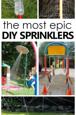 the most epic DIY sprinklers...backyard summer fun for kids