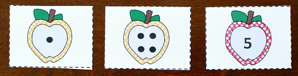 Addition with free printable apple cards
