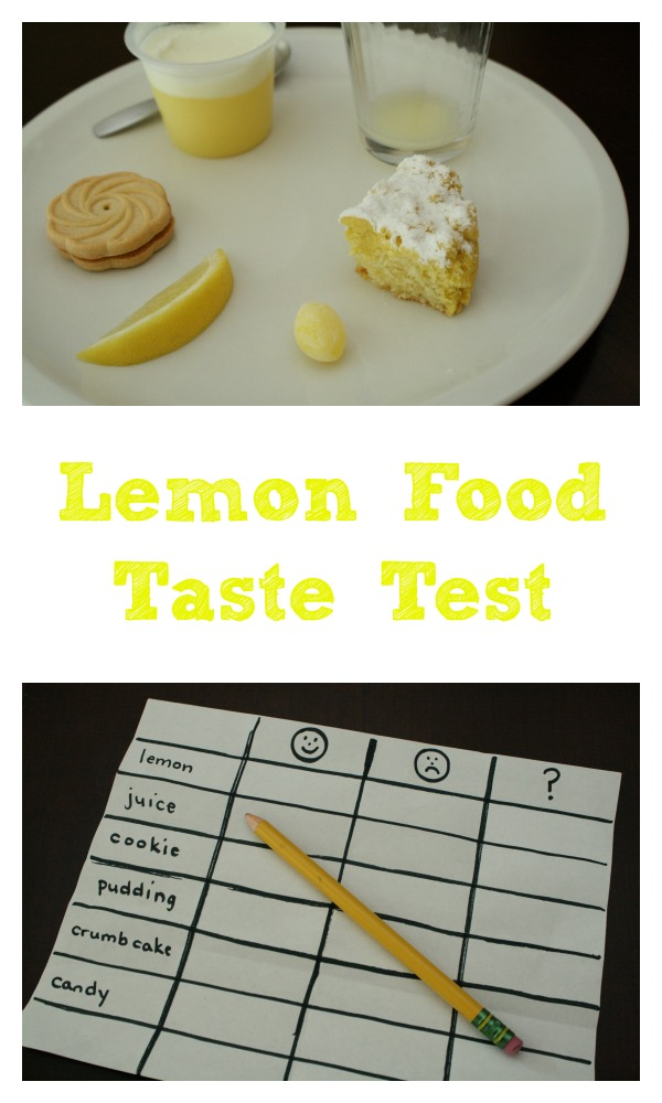 Lemon Food Taste Test-Sense of Taste Activity for Kids