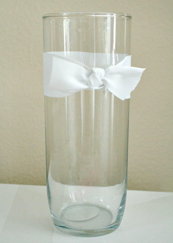 Vase with ribbon