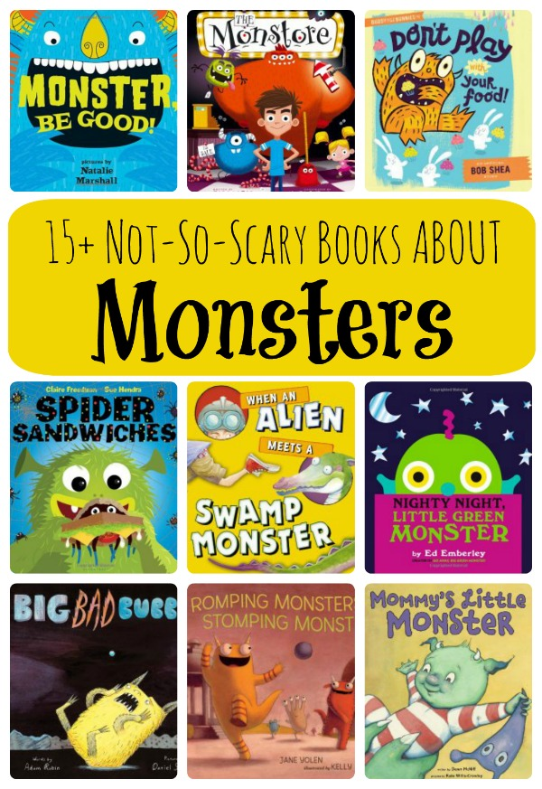 15+ Not-So-Scary Books About Monsters. Click through for the full list and summaries of our favorite monster books for kids #monsters #preschool #booklist